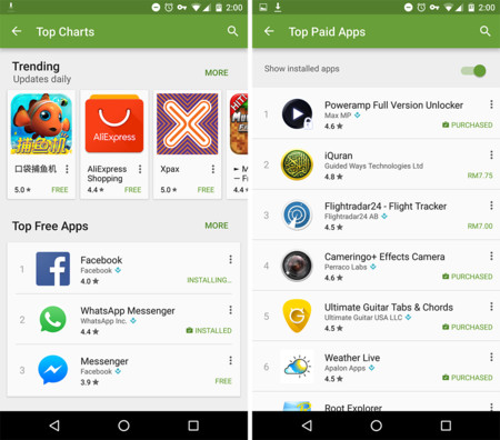 """Play Store permitiría ocultar las aplicaciones instaladas en la sección """"Más populares"""""""