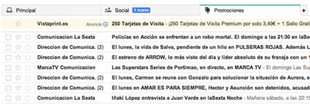 Los nuevos anuncios de Gmail, directos a tu bandeja de entrada