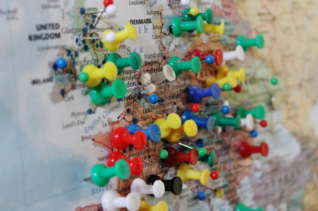 Mapa Chinchetas Europa