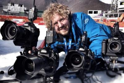 Los fotógrafos profesionales también se «dejan la piel» en Sochi