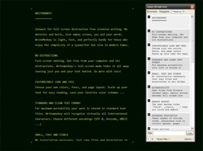 Write Monkey aparta las distracciones al escribir