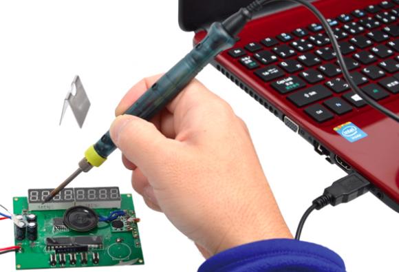 Soldador USB Soldador el/éctrico port/átil USB 5V 8W DIY SMD Herramienta de reparaci/ón de soldadura de PCB Kit de soldadura Soldador alimentado por USB