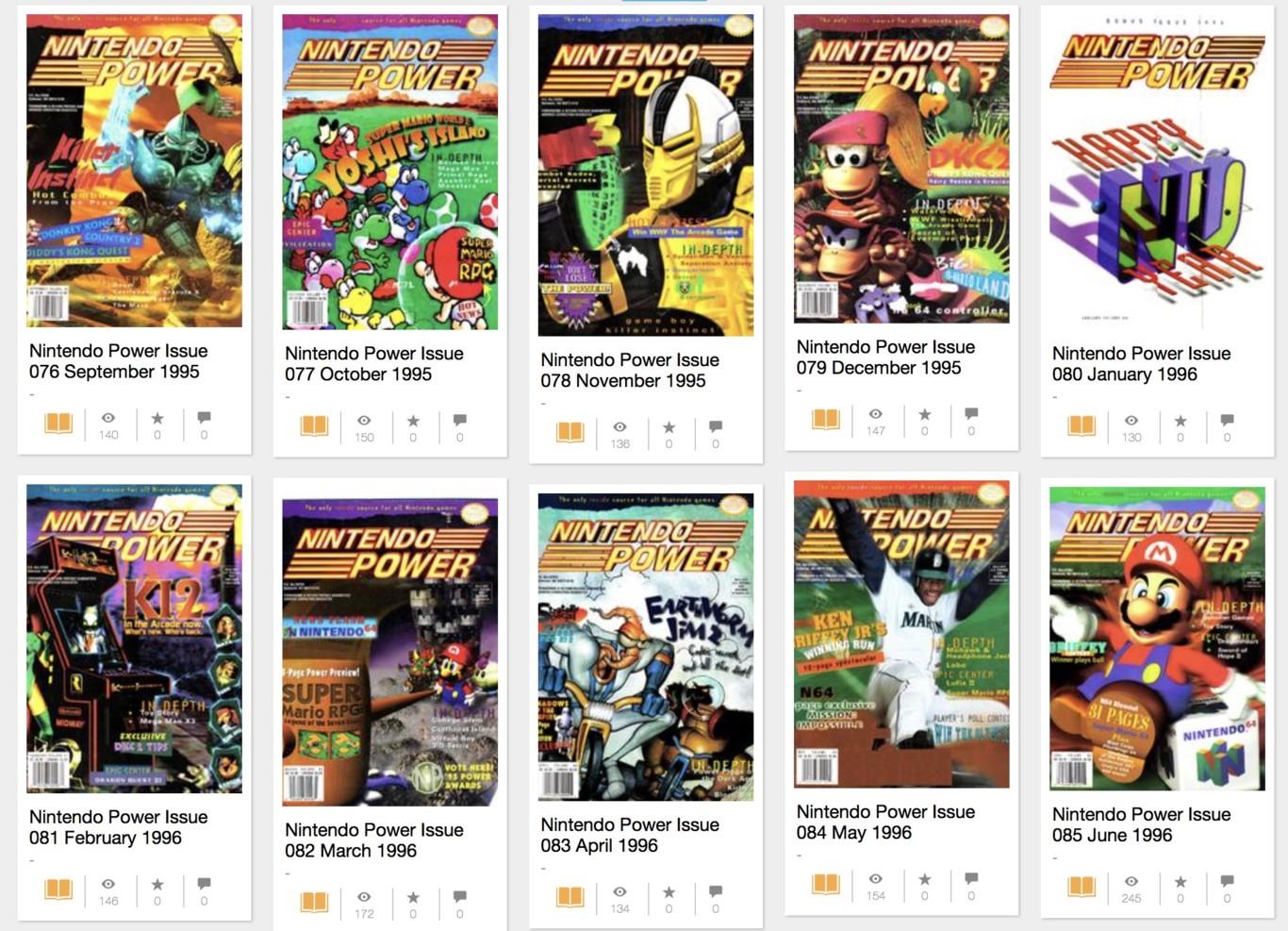 Los 13 primeros años de la mítica Nintendo Power disponibles desde el navegador y gratis