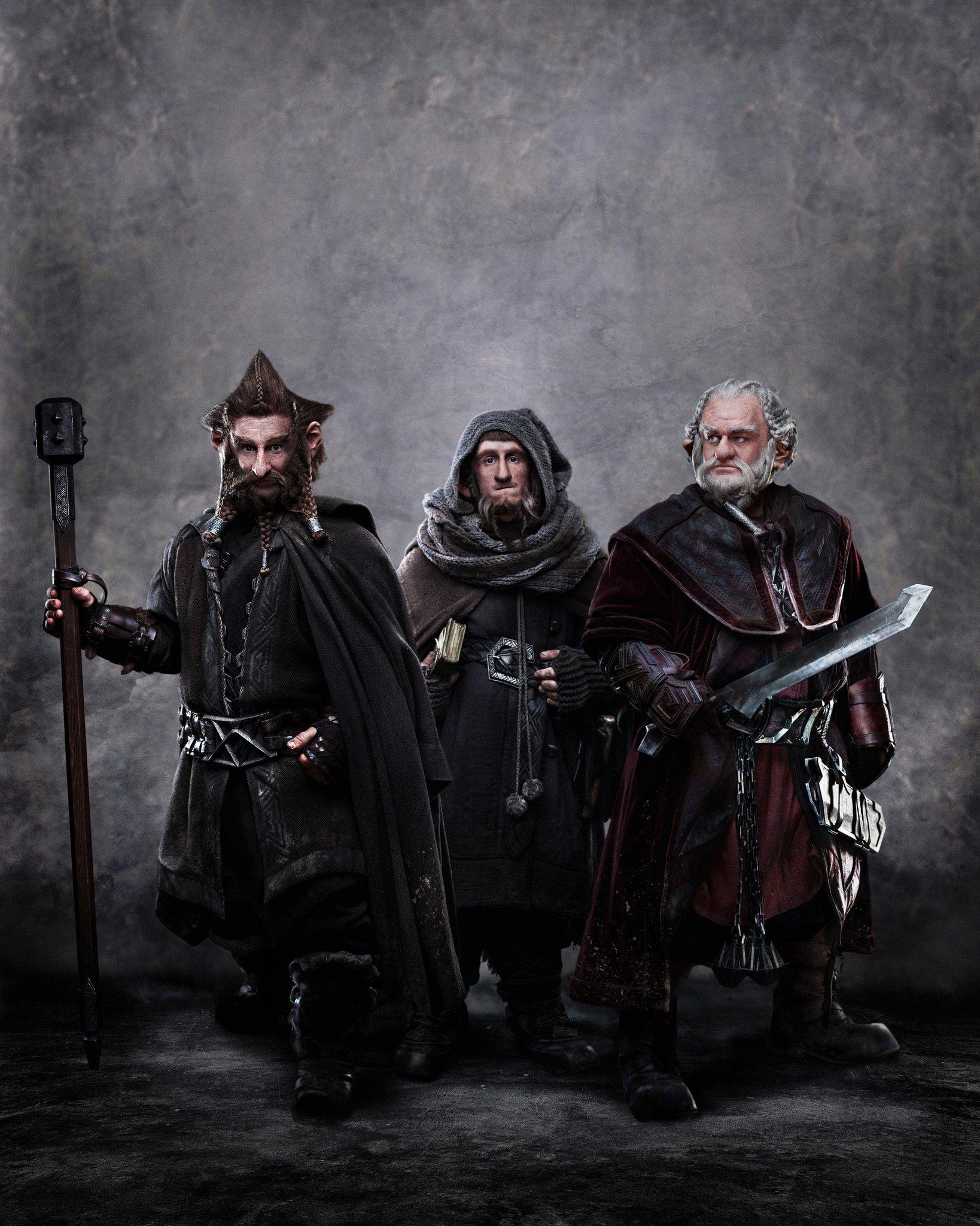 'El Hobbit', imágenes de los trece enanos