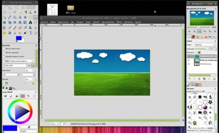 Gimp Paint Studio - Interfaz