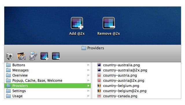 desarrollo iconos retina display apple mac os x ios