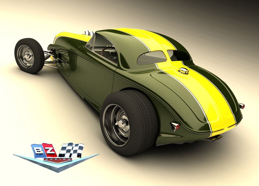 Foto de Vizualtech '33 Bomber Style Rod Design (5/7)