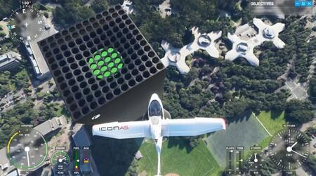 Microsoft Flight Simulator cuenta con una réplica de la Xbox Series X en forma de rascacielos