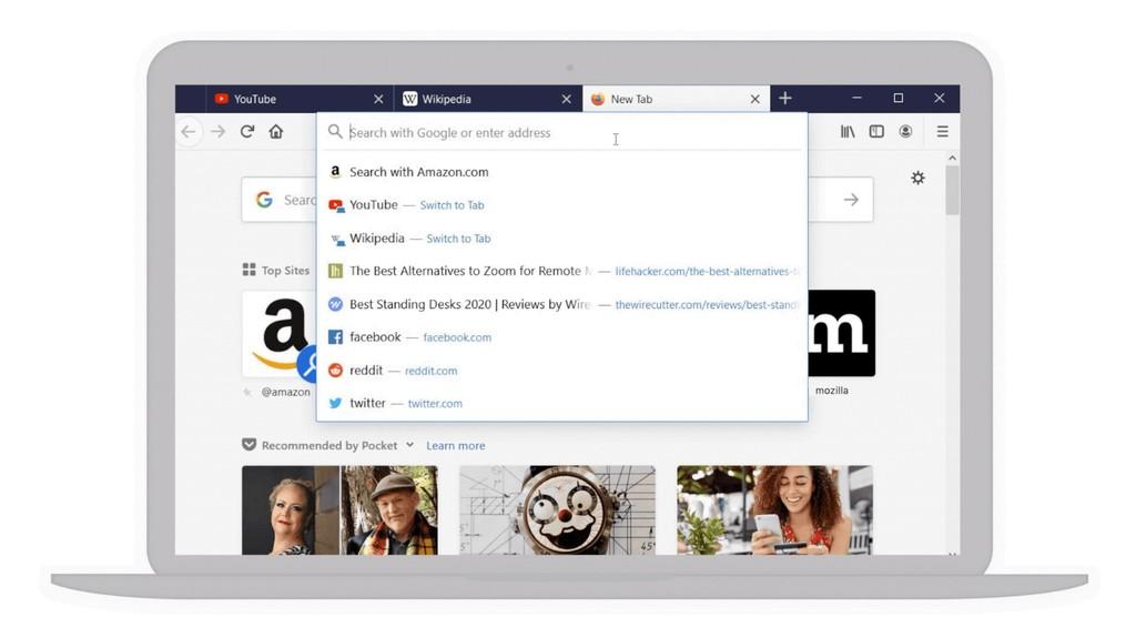 Firefox 75 ya disponible con una barra de direcciones renovada, búsquedas más inteligentes y acceso directo a lo más vistado