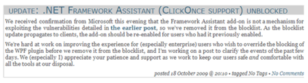 Mozilla recula y rehabilita Framework Assistant