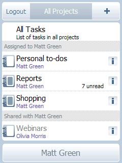 Task2Gather, con clientes móviles