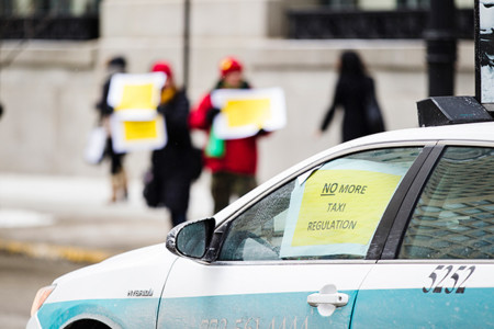 Protestas Uber Chicago