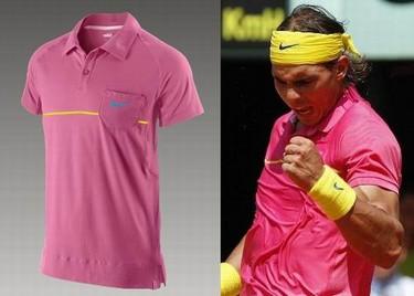 Nadal causa furor con su nuevo polo rosa de Nike
