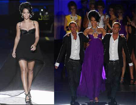 Rihanna a la pasarela para DSquared2