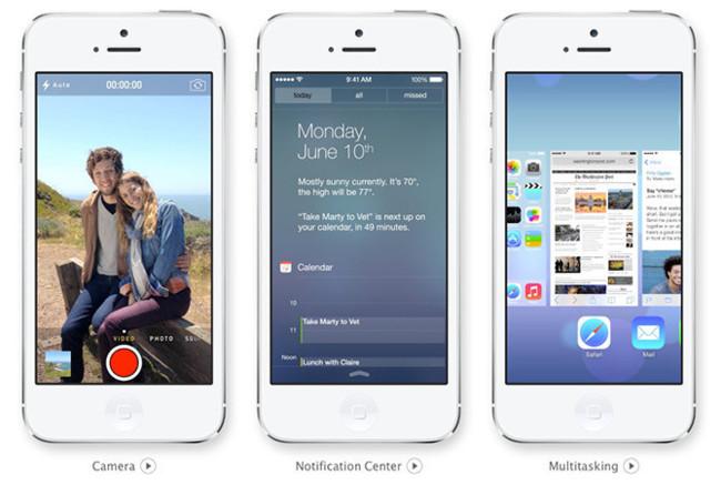iOS 7 diseño