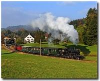 Trenes a vapor en Suiza