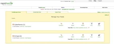 Rapidfeeds, feeds personalizados y widget para nuestra web