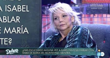 Charo Vega se sienta en el 'Deluxe' y desvela cómo fue la ruptura entre Isabel Pantoja y María del Monte