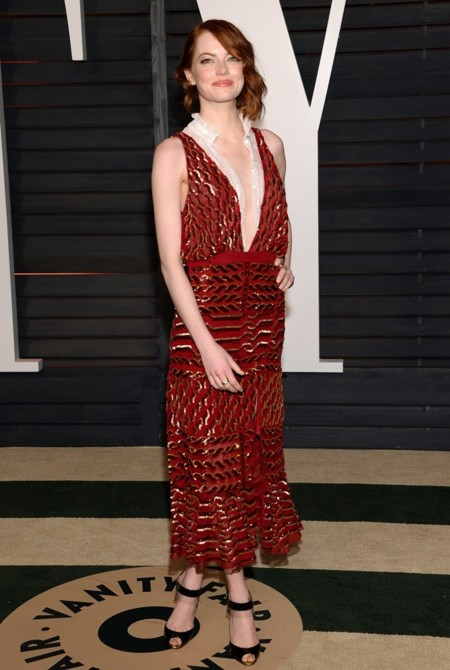 Emma Stone en la fiesta Vanity Fair