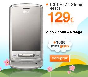 LG KE970 Shine con Orange
