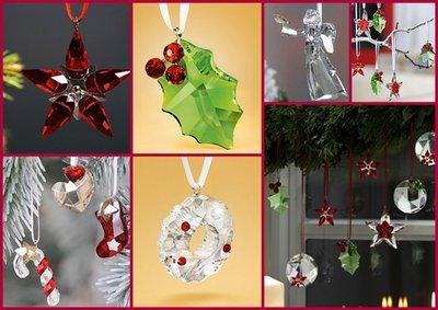Adornos para el árbol de Navidad con cristales de Swarovsky