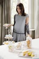 vestido gris prenatal 2014