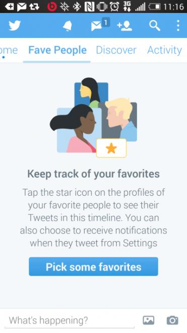 Twitter está probando un nuevo timeline para tus personas favoritas