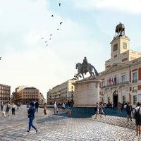 Kilómetro cero, cero emisiones: Madrid cierra la Puerta del Sol a los coches e inicia las obras para la peatonalización total