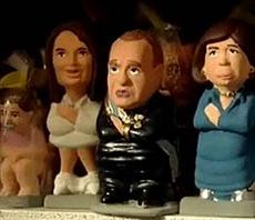 Adornos comestibles navideños, el Rey de España y el Presidente Hugo Chávez son ahora caganers