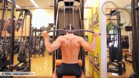 jalon al frente para espalda