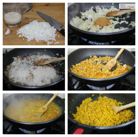 Arroz Al Curry Pasos Pakus Directo Paladar