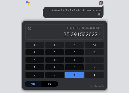 Google Assistant Calculadora