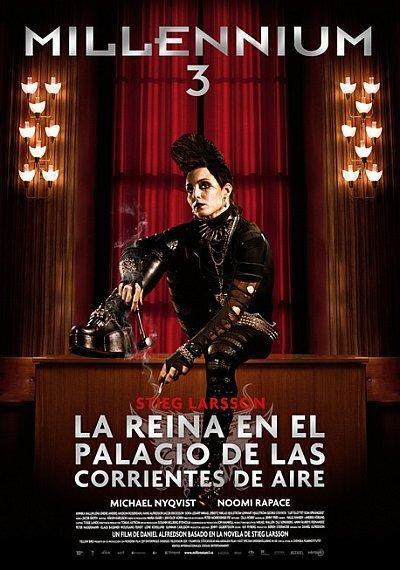 'Millennium 3: La reina en el palacio de las corrientes de aire', cartel y tráiler