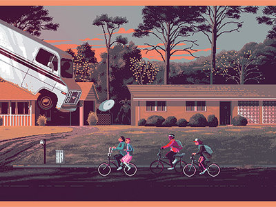 Icónicas escenas de series de televisión transformadas en maravillosas ilustraciones retro con píxeles