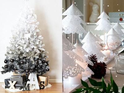17 ideas para decorar la casa en blanco y negro en esta Navidad