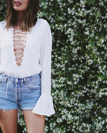 Aimee Song Of Style Revolve Coachella Stone Cold Fox Blouse
