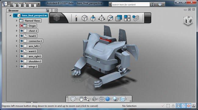 Autodesk 123d software gratuito de modelado 3d for Programa diseno 3d online
