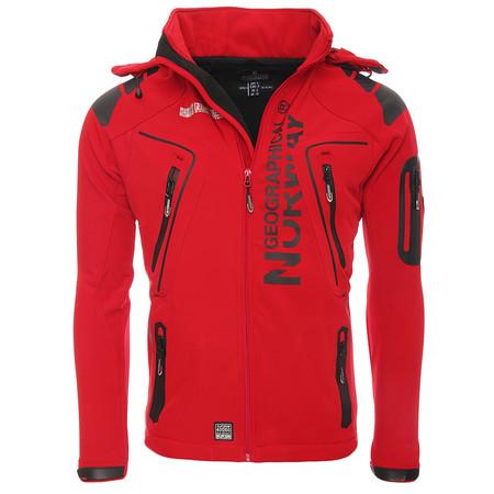 Winter is coming... con rebajas: chaqueta Geographical Norway Softshell en rojo por 39,95 euros en Amazon
