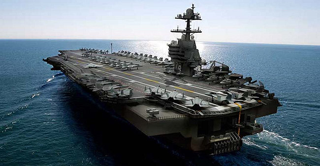 Render del USS Gerald R. Ford