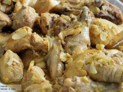 Pollo guisado a la andaluza. Receta para los peques