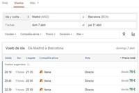 Google Flight Search llega a España