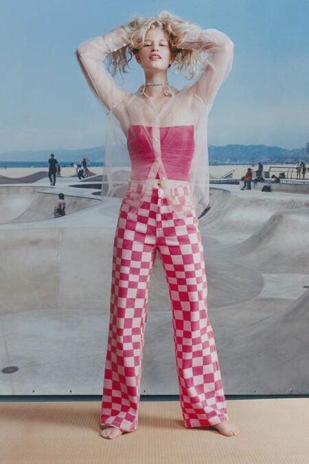 Pantalones Vaqueros Cuadros Zara 03