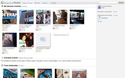 Novedades en Picasa web: página principal social, y más espacio para fotos pequeñas