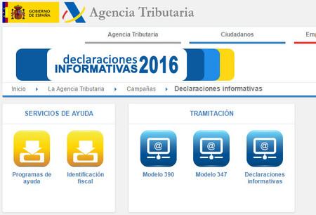 La Agencia Tributaria lo pone más fácil con las declaraciones informativas de 2016