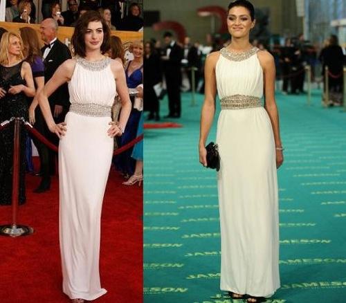 Anne Hathaway Gana: Vestido De Azzaro: ¿Anne Hathaway U Olivia Molina?
