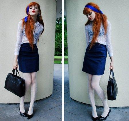 El encaje está de moda este verano 2010: cómpralo en Zara o Mango y aprende con los looks de calle V