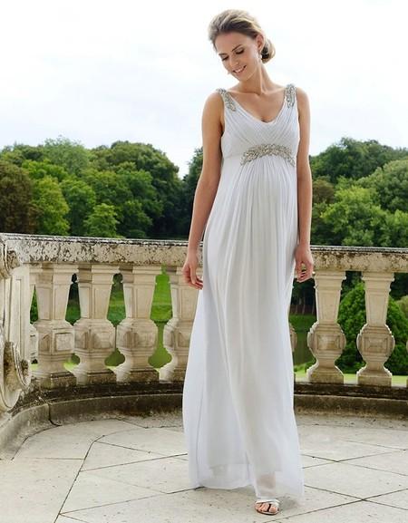 510c1d162 Vestidos de novia muy favorecedores para embarazadas