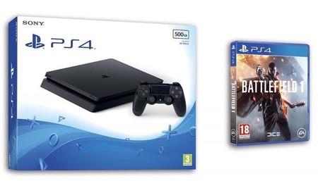 Hasta el 31 de octubre, PS4 500 Gb Slim + Battlefield 1, ¡sólo 279,90 euros en eBay!