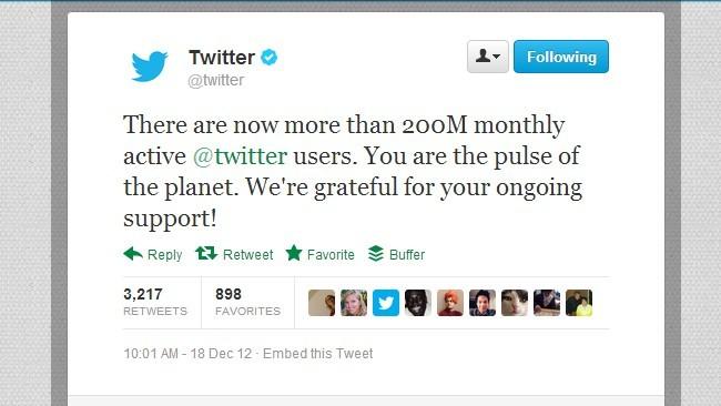 Twitter supera los 200 millones de usuarios activos