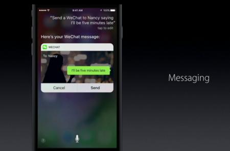 Siri en aplicaciones de terceros